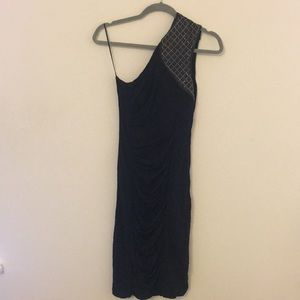 Yigal Azrouel navy blue party cocktail dress